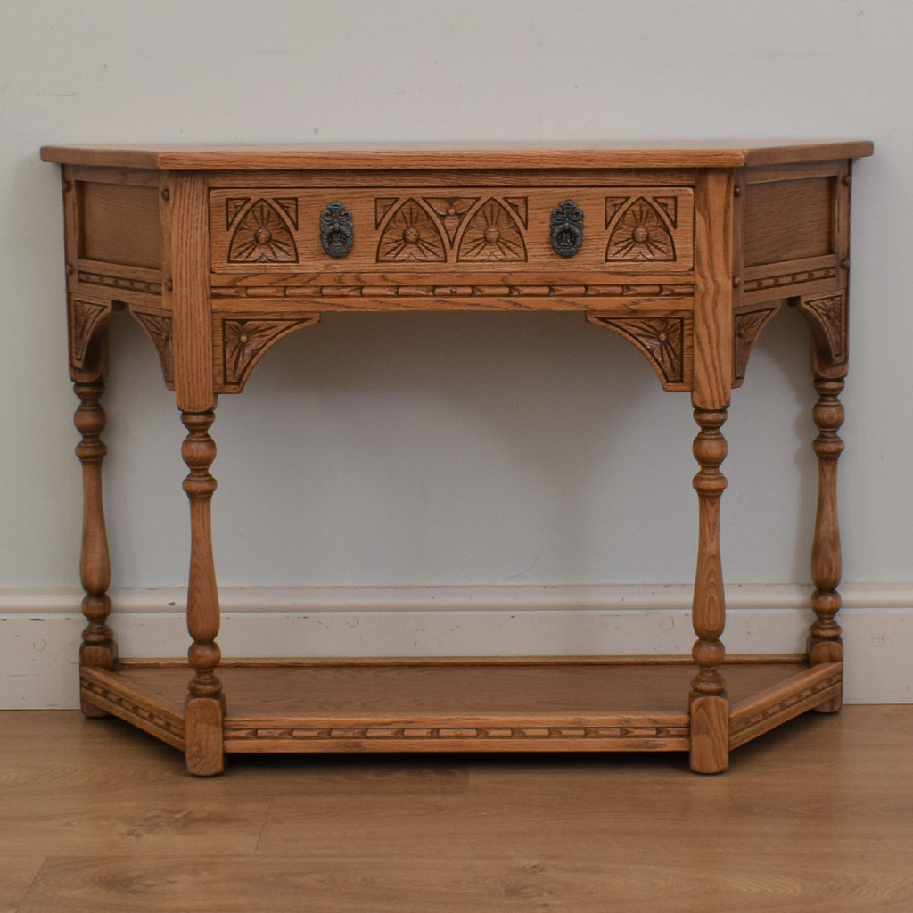 Carved Oak Hall Table