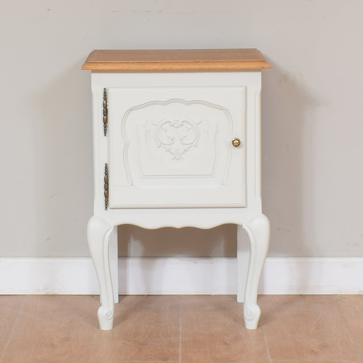 Painted French Louis Bedside / Cabinet