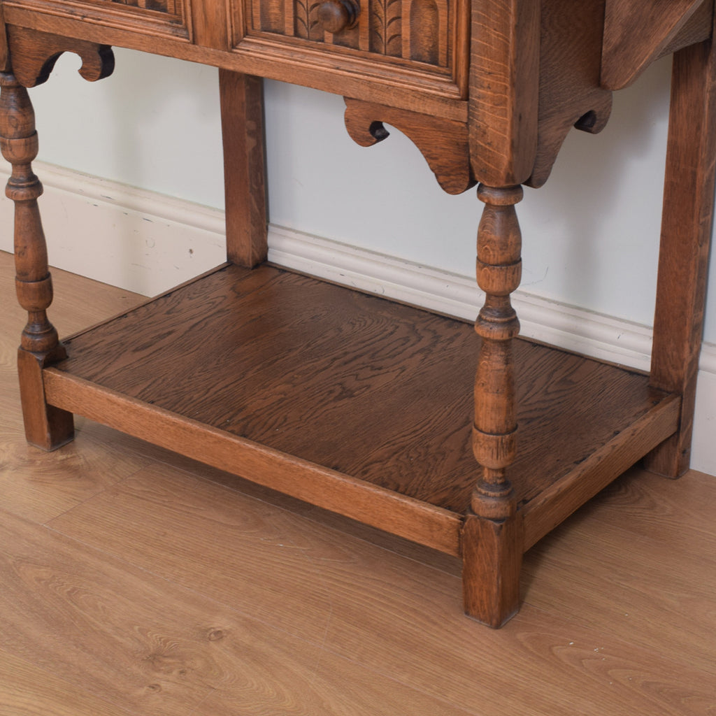 Extending Carved Oak Console Table