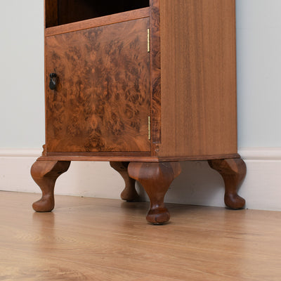 Small Walnut Veneered Cabinet / Bedside
