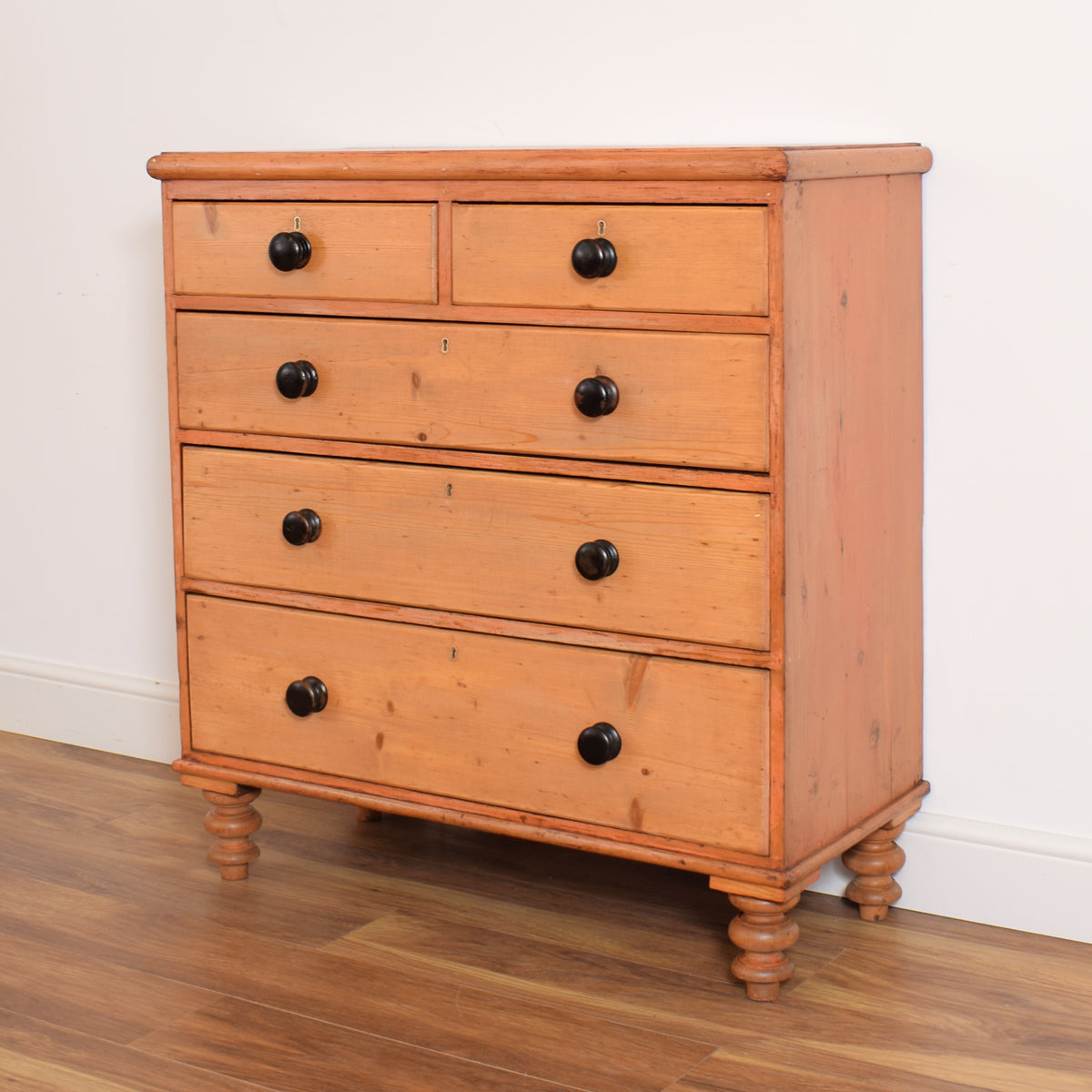 Large Rustic Pine Chest of Drawers