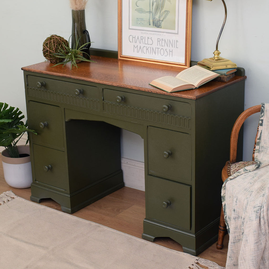 Painted low desk