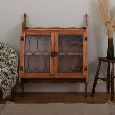 Wall mounted glazed display cabinet