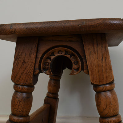 Carvd Oak Side Table