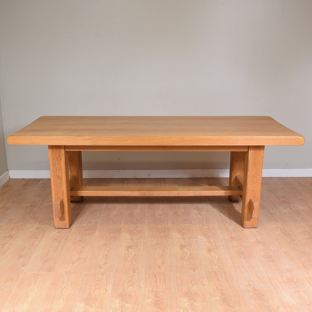 Large Solid Oak Table And 6 Chairs