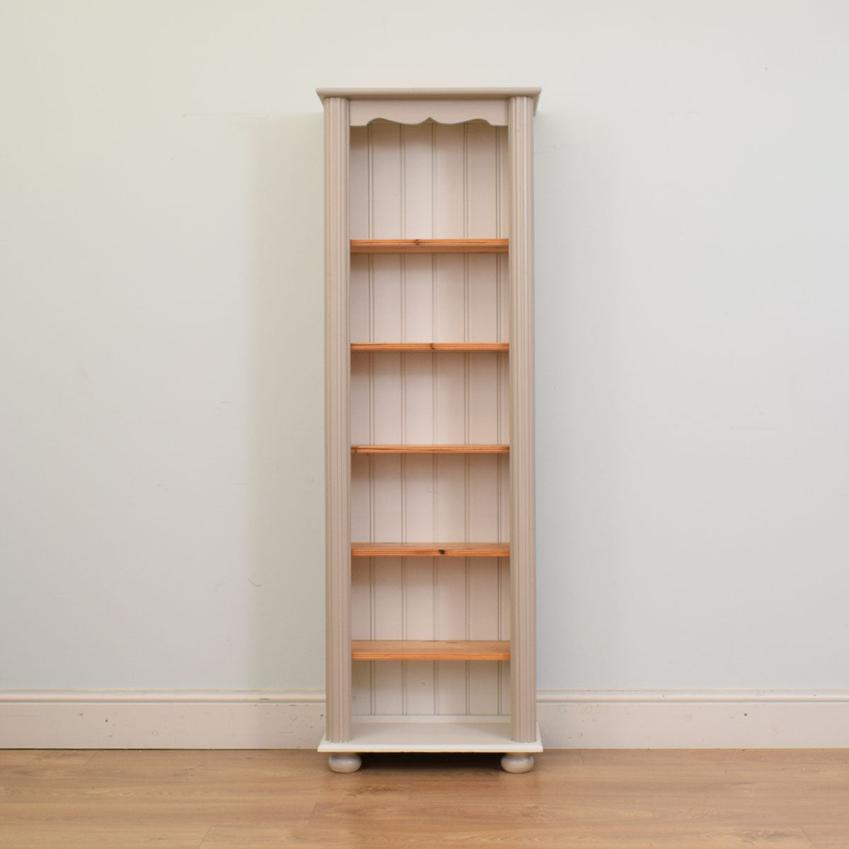 Slim Painted Pine Bookcase