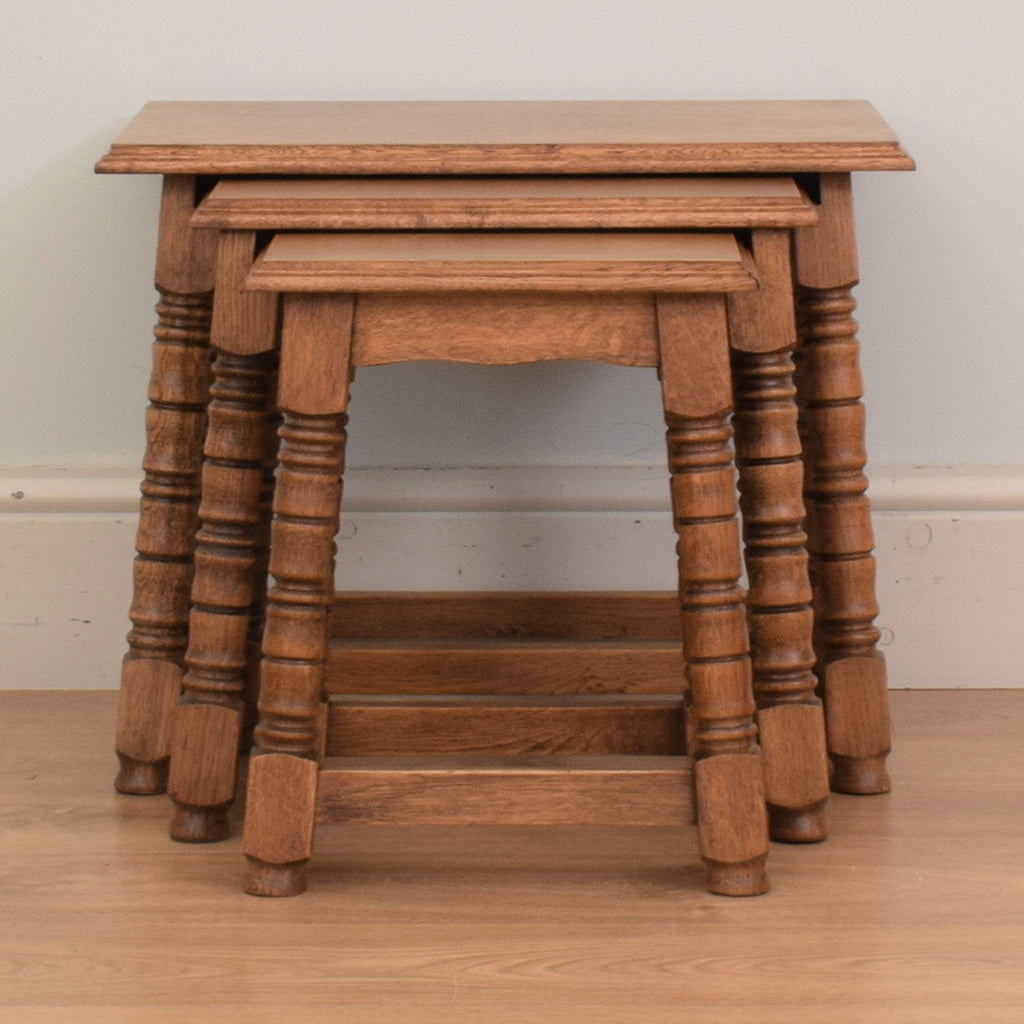 Dutch Oak Nest of Tables