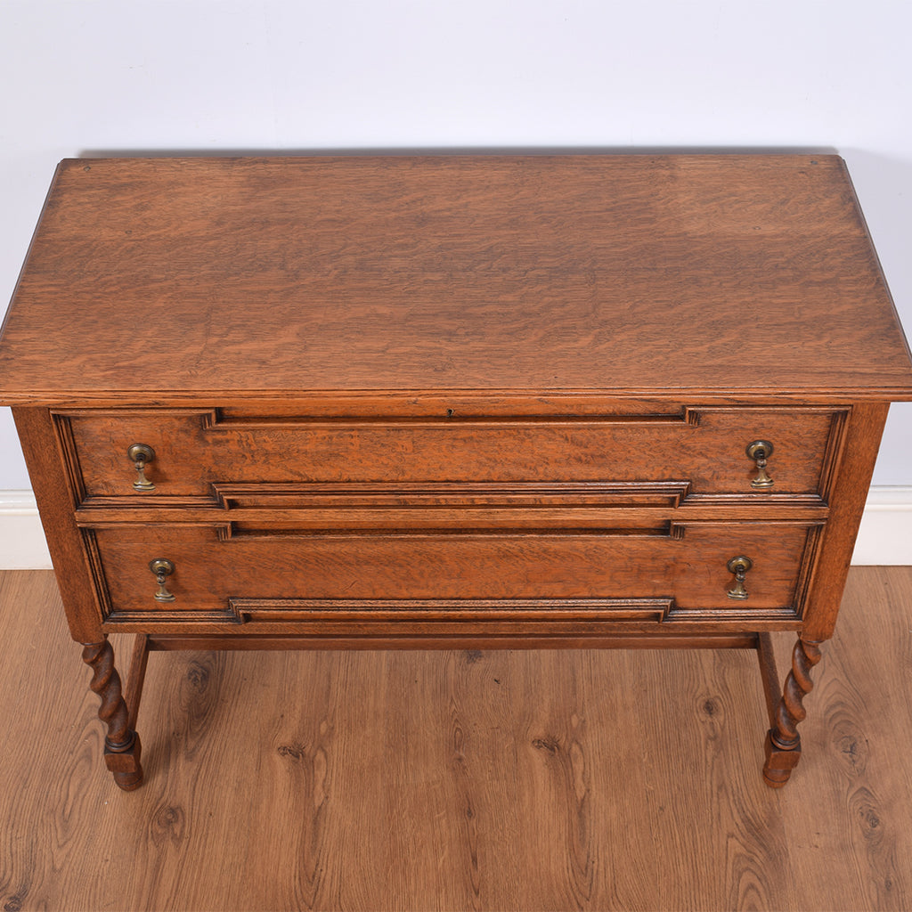 Circa 1930's Barley-twist Oak Chest of Drawers