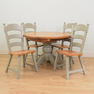 Painted Dutch Table & 4 Chairs