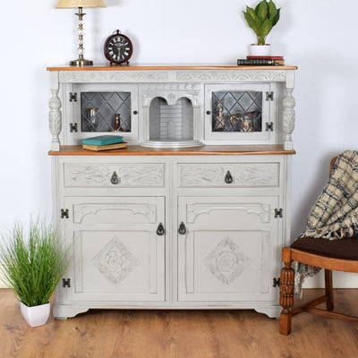 Beautifully Carved And Painted Priory Court Cabinet