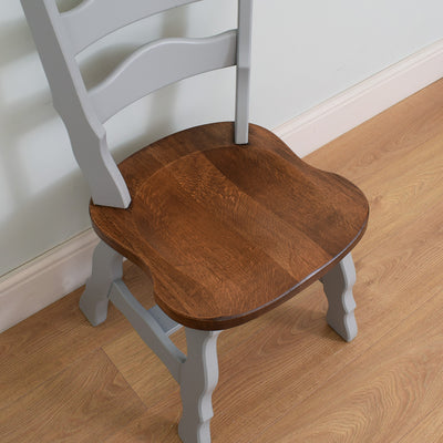 Painted Dutch Oak Table & 4 Chairs