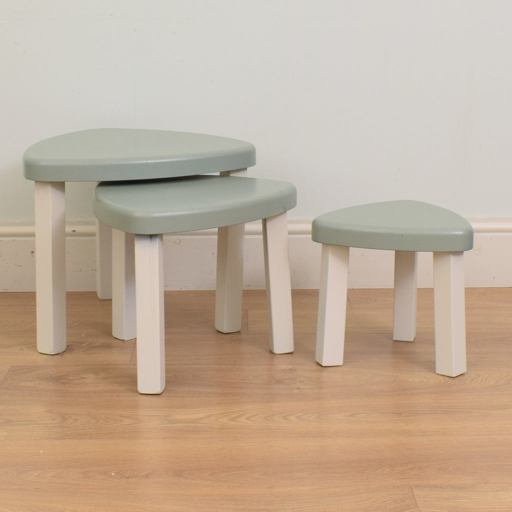 Painted Nest of 3 Tables