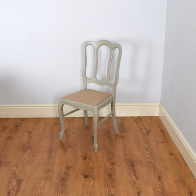 Painted French Oak Table & 6 Chairs