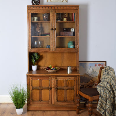 Ercol Glass Display Cabinet/Bookcase