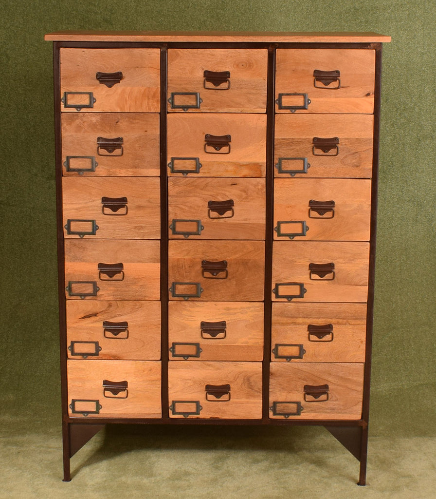 Wood & Iron 18 Drawer Chest