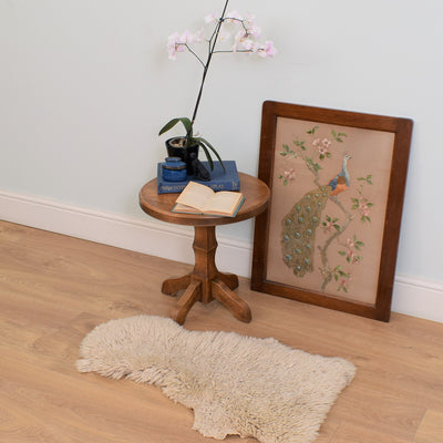 Small Round Oak Side Table