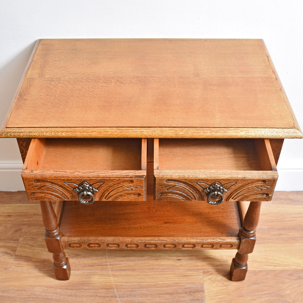 Oak Carved Console Table