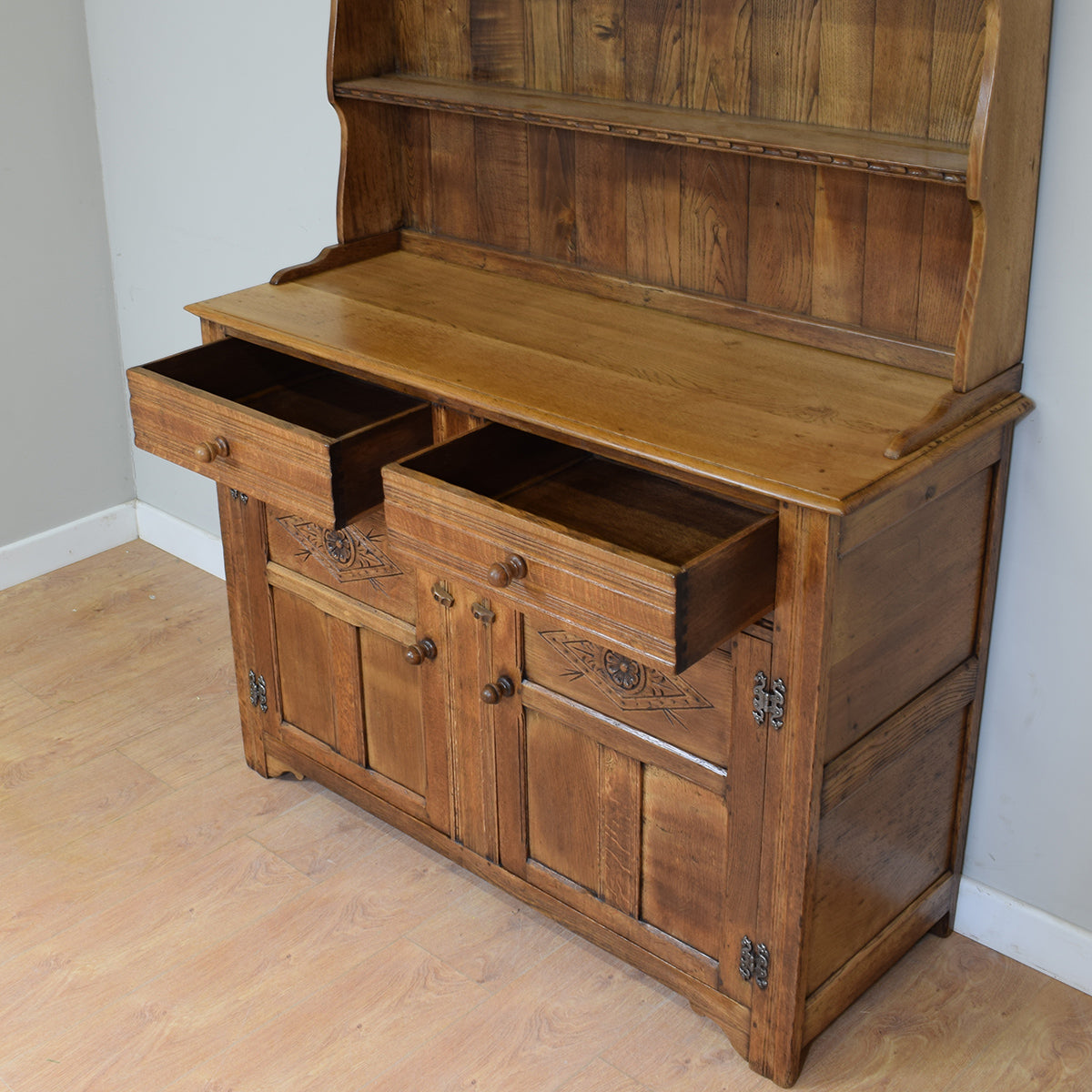 Vintage Restored Rustic Oak Welsh Dresser