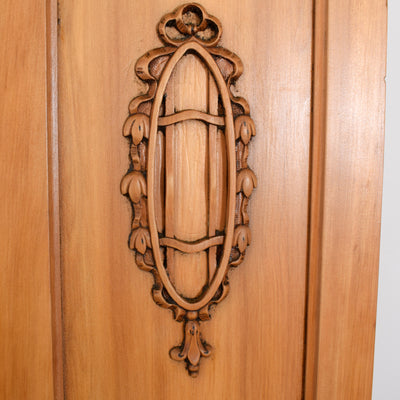 Large Satinwood Mirrored Wardrobe