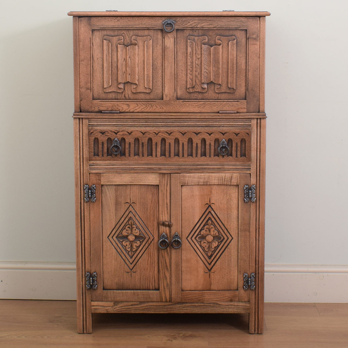 Oak Drinks Cabinet