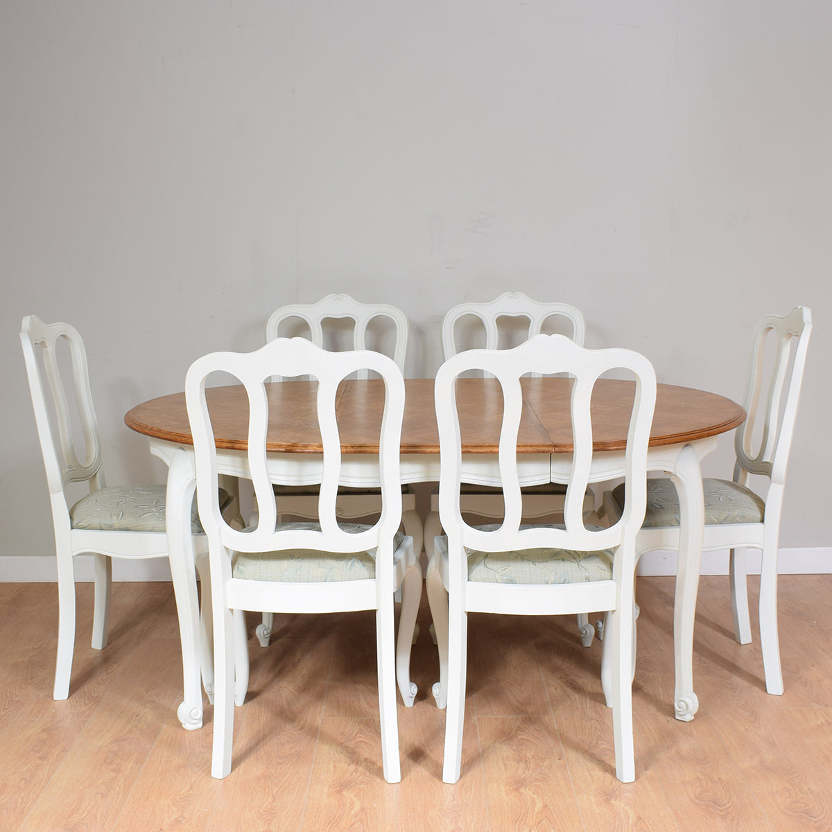 French Louis XV Style Table And 6 Chairs