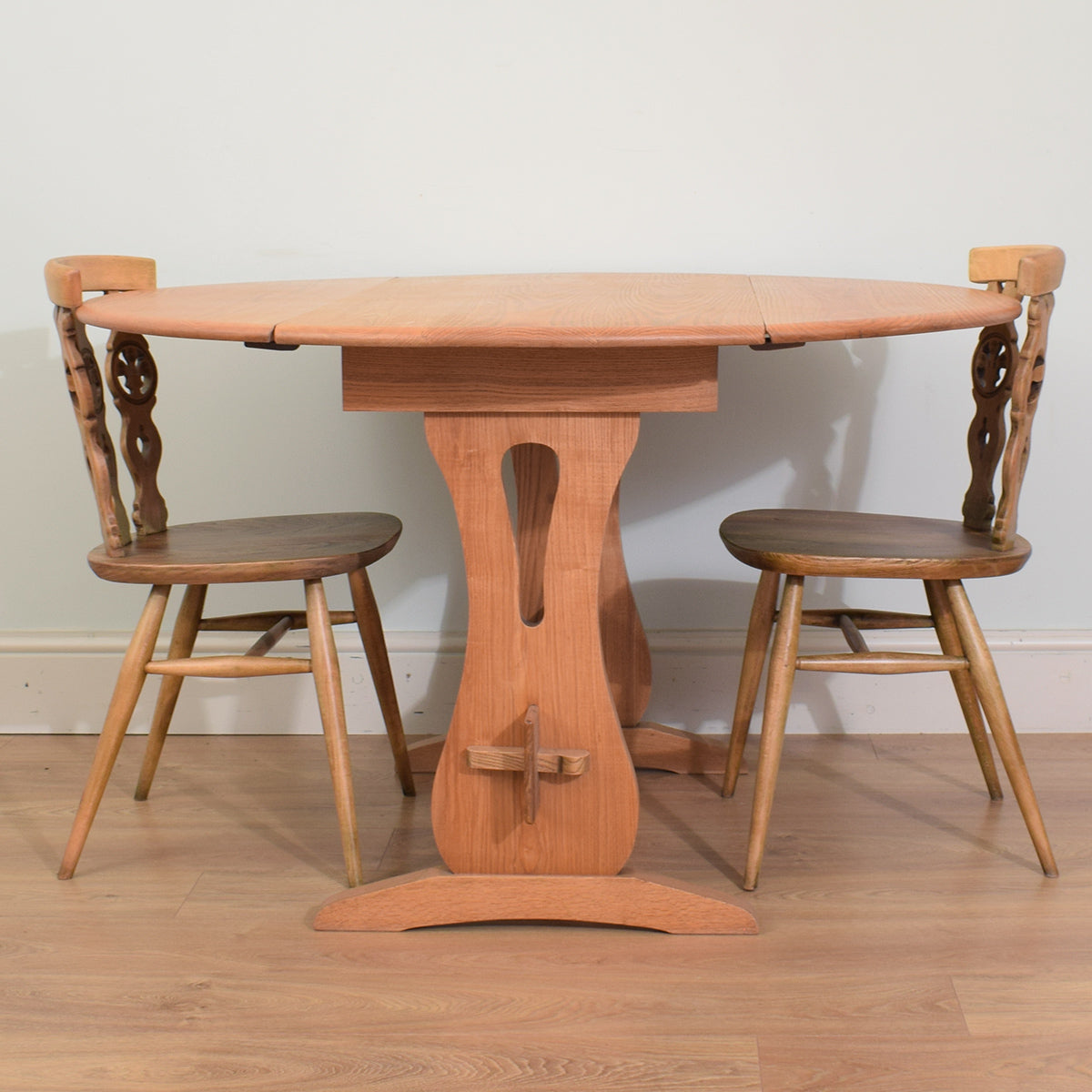 Elm Drop Leaf Table Amp 2 Chairs Betel Restored Furniture