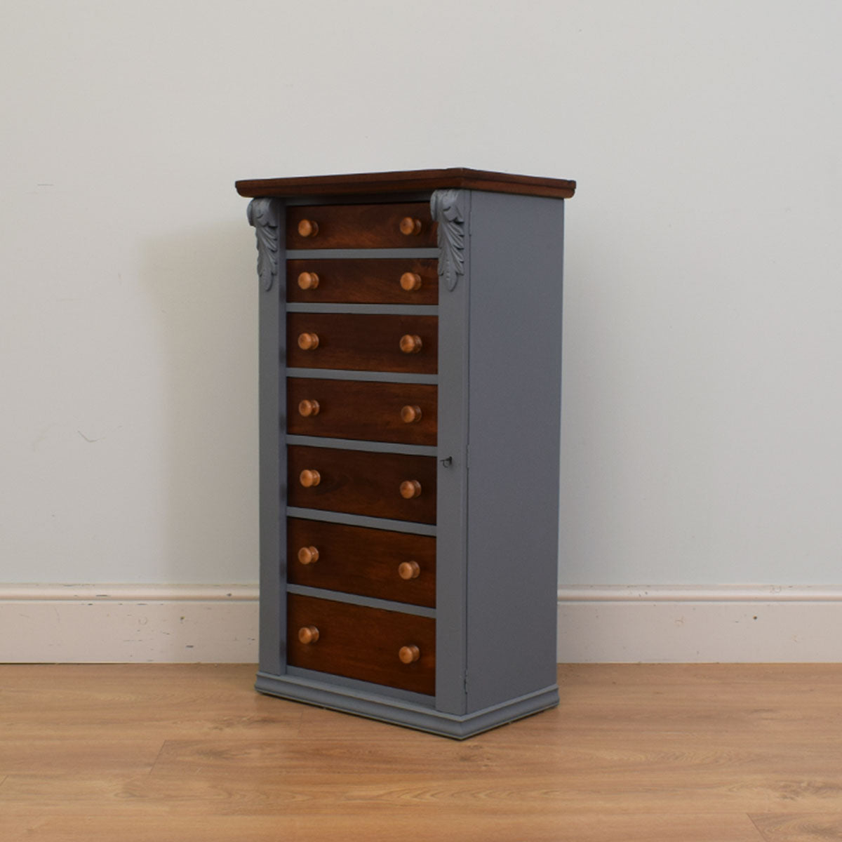Painted Mahogany Wellington Chest of Drawers