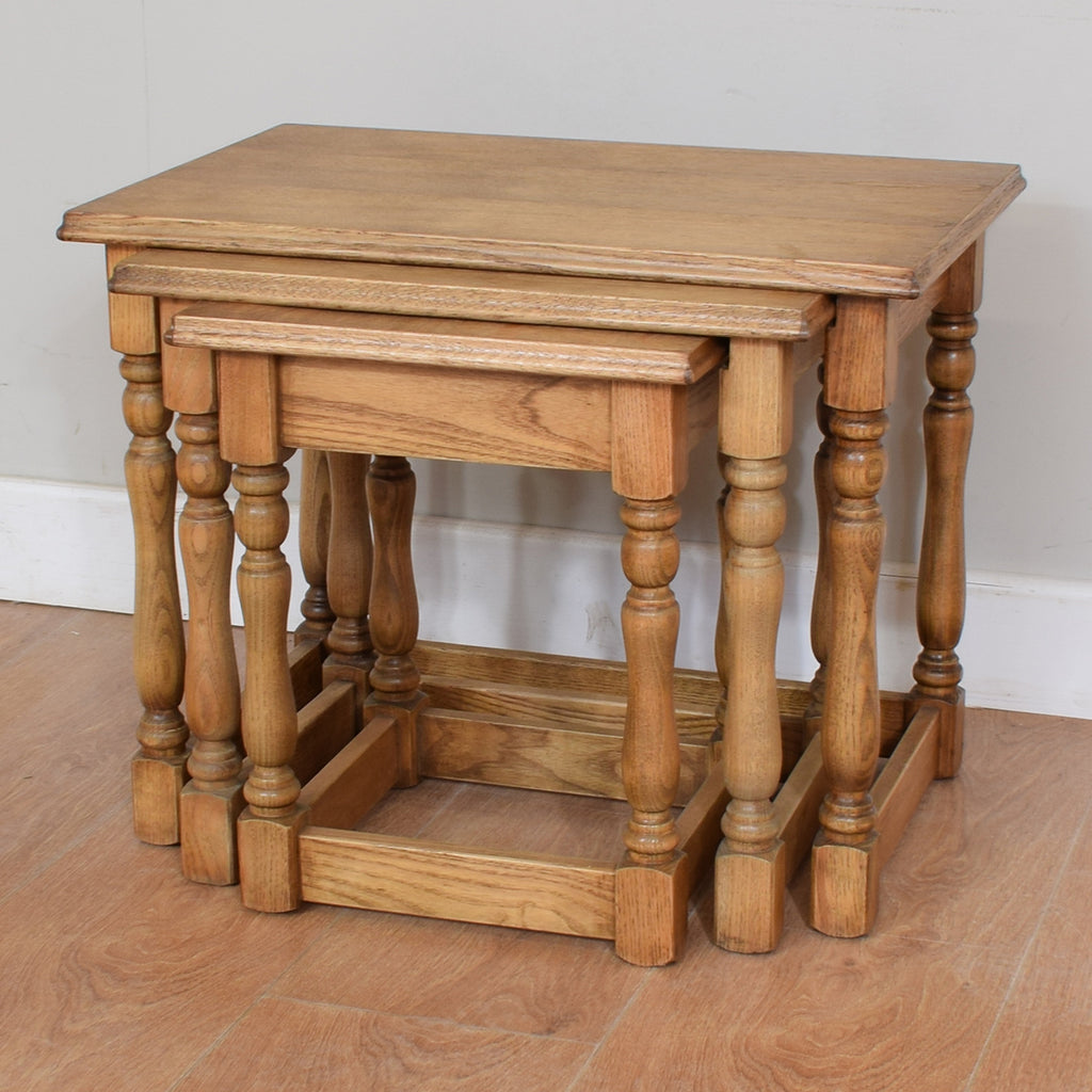 Restored Oak Nest of Tables
