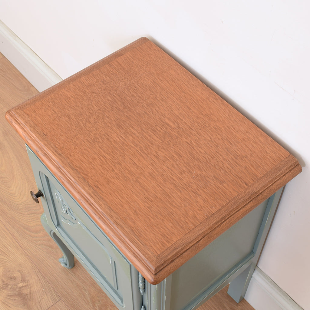 Painted Oak Bedside Cabinet