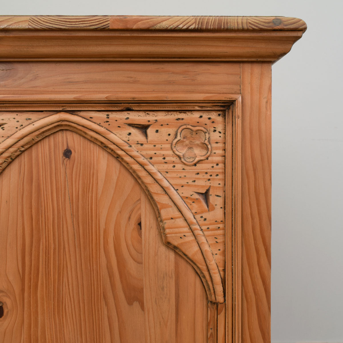Large Carved Antique Pine Chest of Drawers
