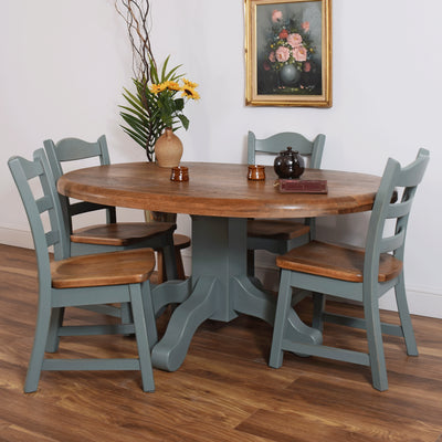 Dutch Oak Table and Four