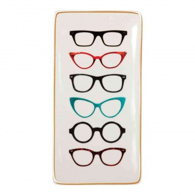 Spectacles-Style Porcelain Tray