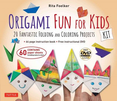 Origami Fun for Kids Kit: 20 Fantastic Folding and Coloring Projects