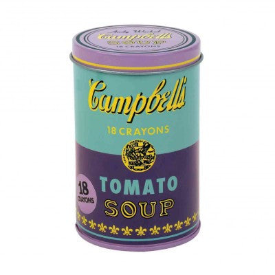Andy Warhol Soup Can Crayons Purple