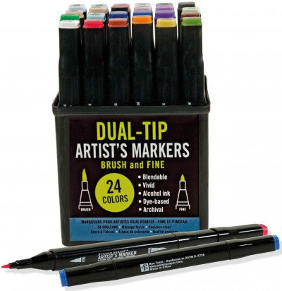 Studio Series Dual-tip Alcohol Markers: Set of 24