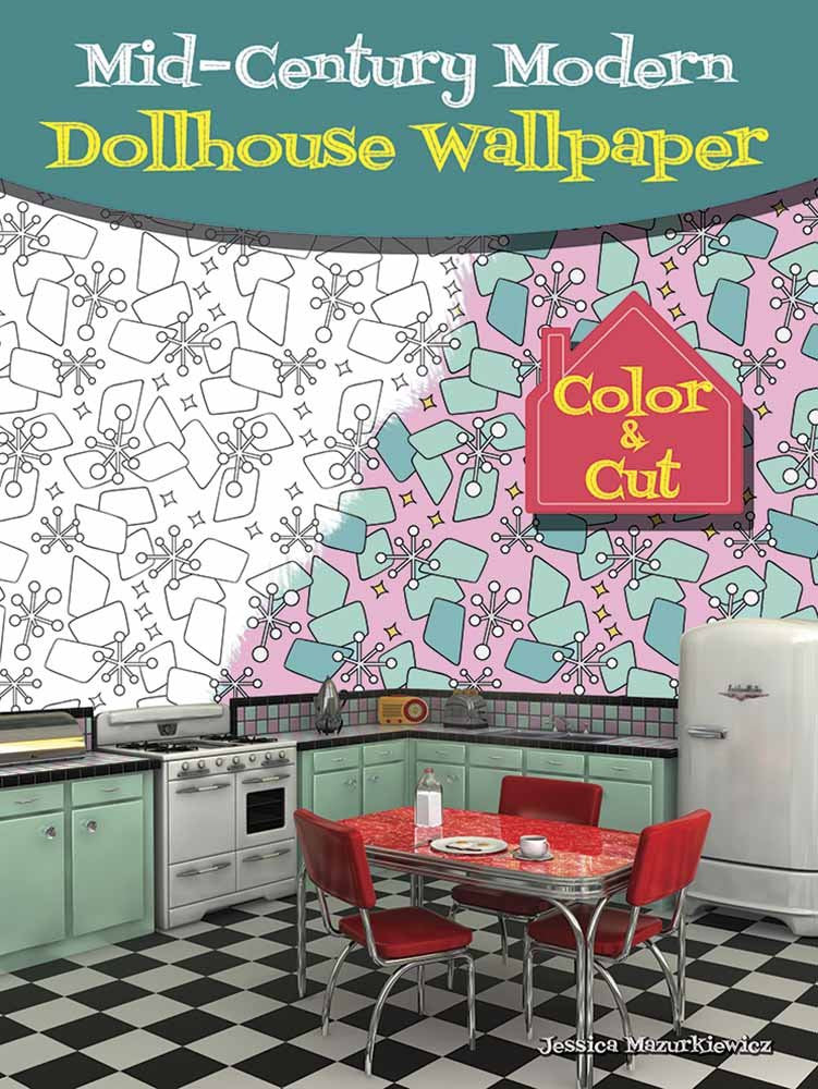 Mid-Century Modern Dollhouse Wallpaper: Color & Cut