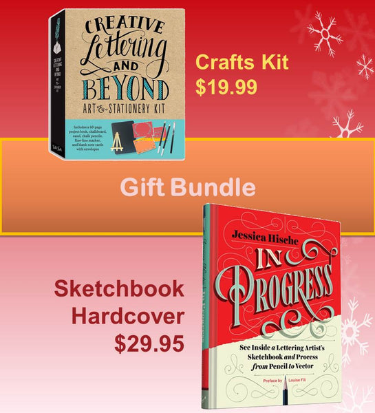 In Progress: See Inside a Lettering Artist's Sketchbook & Creative Lettering and Beyond Crafts Kit