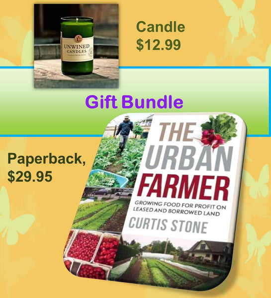 The Urban Farmer Book & Applewood Candle