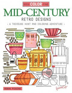 Mid-Century Retro Designs: A Treasure Hunt and Coloring Adventure