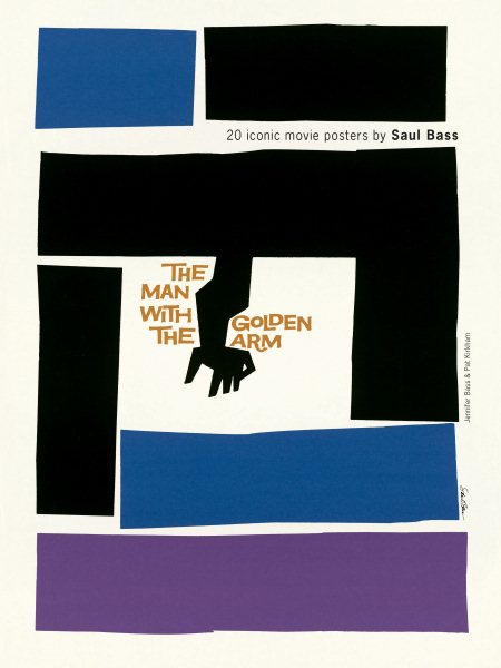 Saul Bass 20 Iconic Film Posters: The Man with the Golden Arm and More
