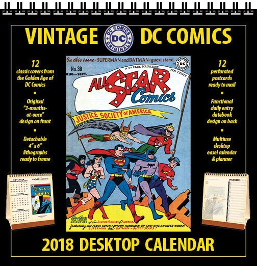 All-Star DC Comics 2018 Calendar