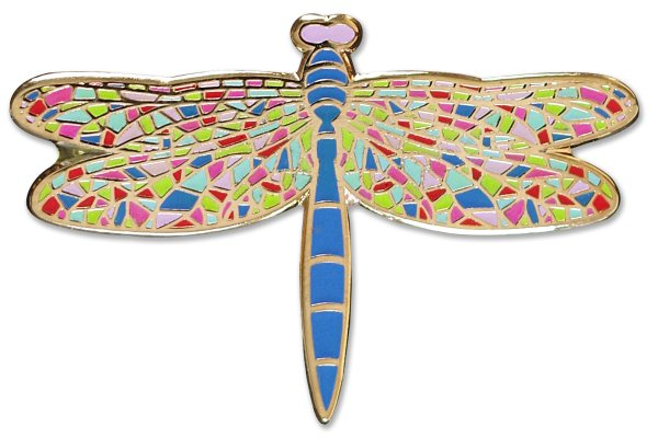 Cloisonne Pin, Dragonfly