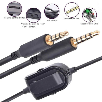 [REYTID] 2m Replacement Astro Gaming Headset Daisy Chain Cable with Mute Button / Volume Control
