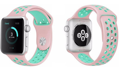 [REYTID] Replacement Silicone Rubber Apple Watch Strap - iWatch Series 1 2 3 4 - Adjustable - Variety of Colours