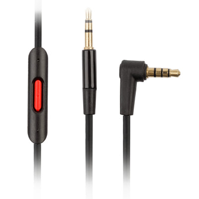 Beats Solo2 / Solo HD Replacement Black Audio Cable w/ Control Talk & Microphone