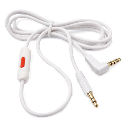 [REYTID] Beats by Dr. Dre Solo2 Solo 2.0 Cable & Ear Cushion Kit - White Leather & White RemoteTalk