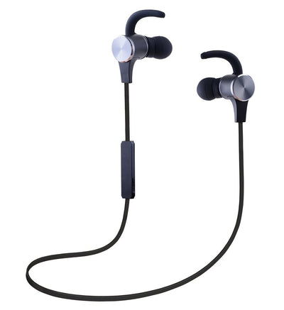Wireless Bluetooth 4.1 In-Ear Headphones - iPhone Android (w/ Volume Control & Mic) - Black