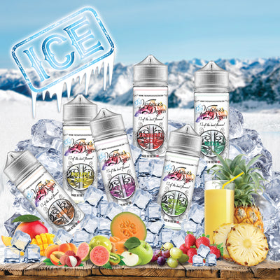 Ice Range - The Fruits from The Vapours Dozen with an added 'Cool' hit