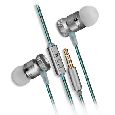 [REYTID] In-Ear Earphones Headphones - HD Sound, Heavy DEEP Bass w/ MIC for iPhone / Android - Grey