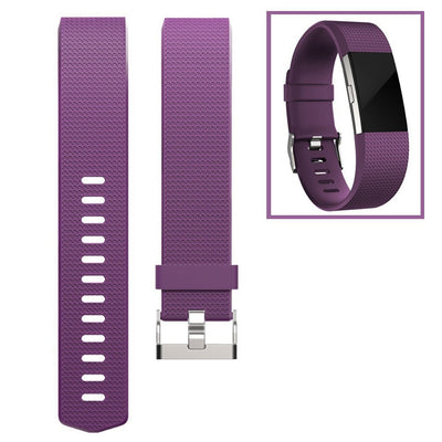 [REYTID] FitBit Charge 2 Silcone Large Replacement Wrist Band Sports Strap Adjustable Wristband  - Variety Of Colours -